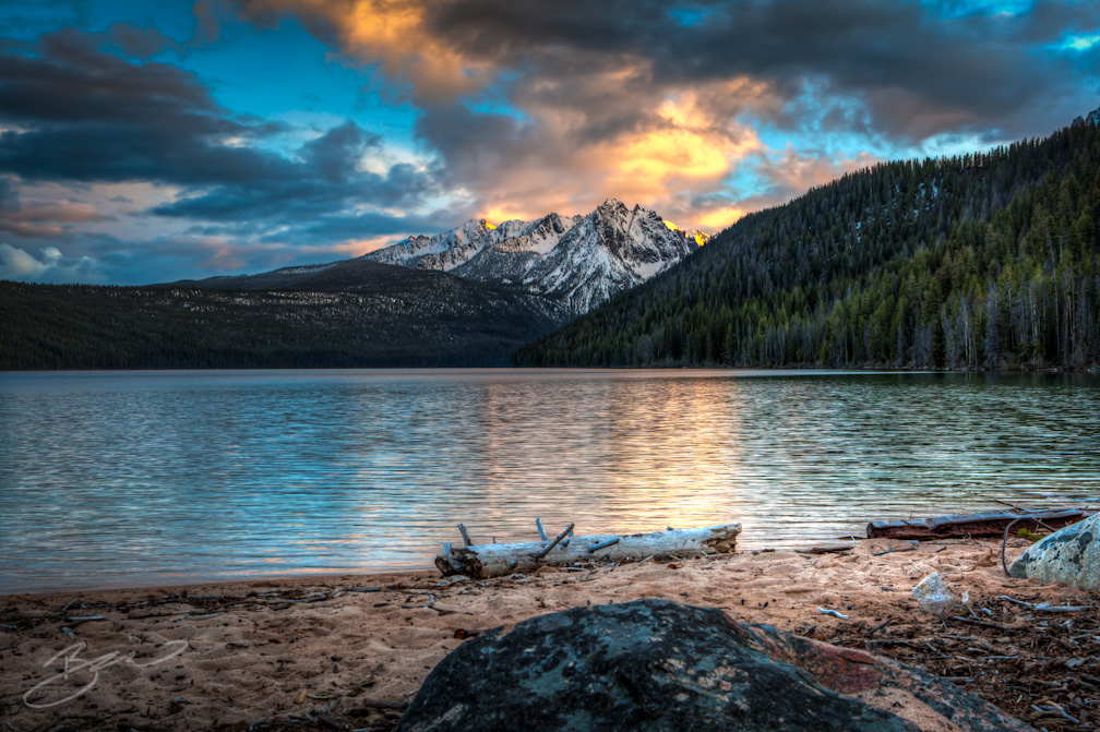 Redfish Lake sits at more than 6,000 feet in the Sawtooth Basin in central Idaho.