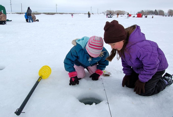 It's like a window into a new world. Kids get a chance to experience an iconic Idaho winter activity.
