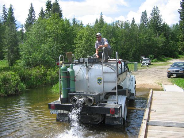 Catchable fish are stocked in the Spring, Summer and early Fall at many ponds and lakes throughout the state. IDFG photo.