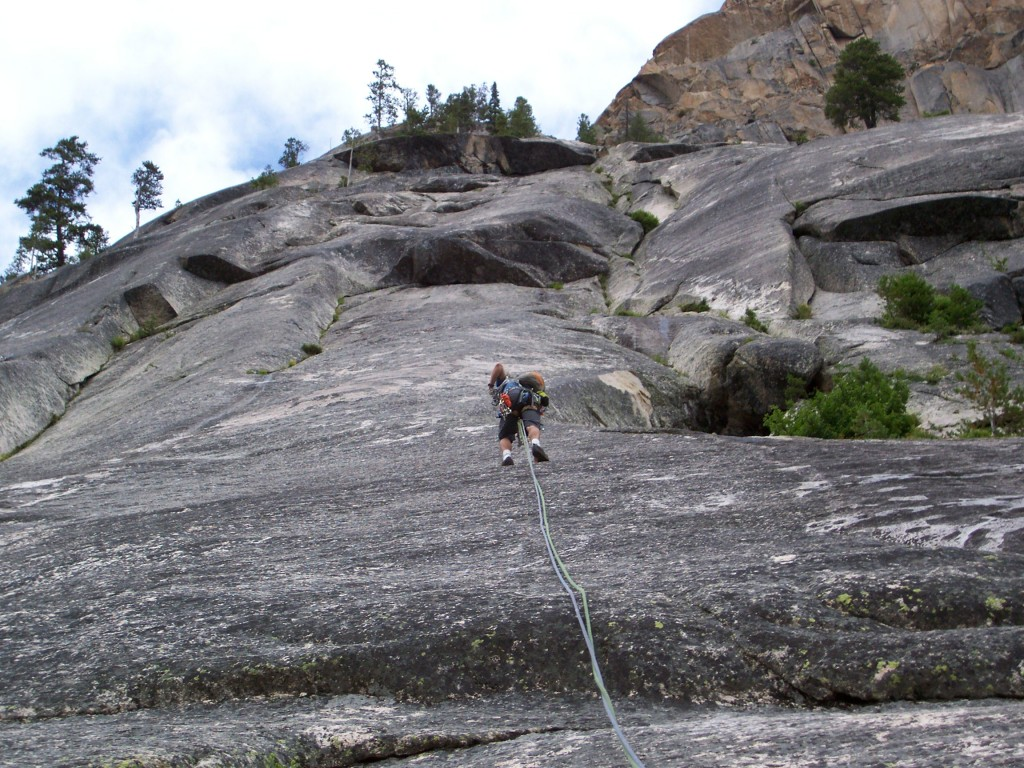 In all, there are seven pitches on the Super Slabs beginner climb, with the fifth pitch being the most difficult, according to Jung. (Mike McClaskey photo)