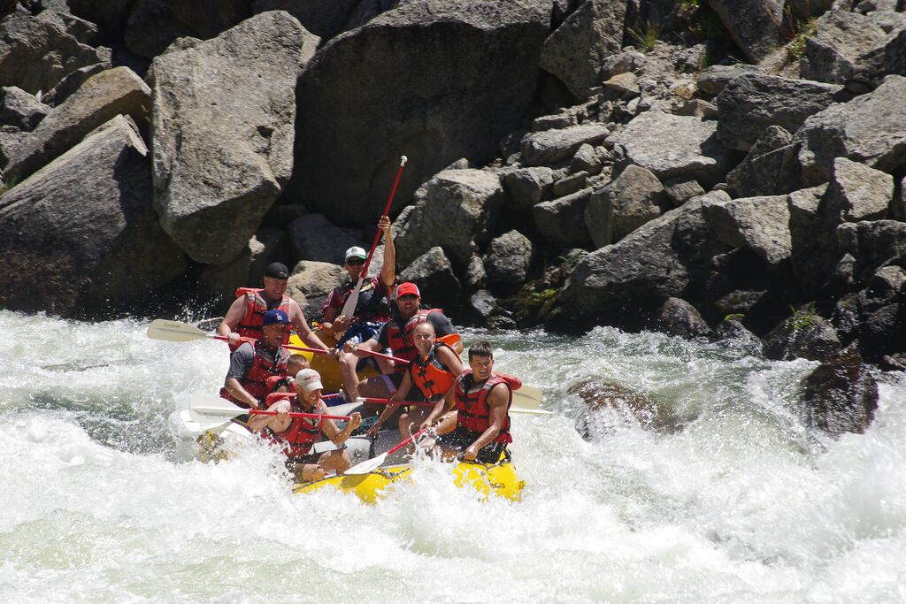 The Cabarton stretch of the North Fork Payette River offers solitiude and Class III+ rapids as well. (Tamarack Resort photo)