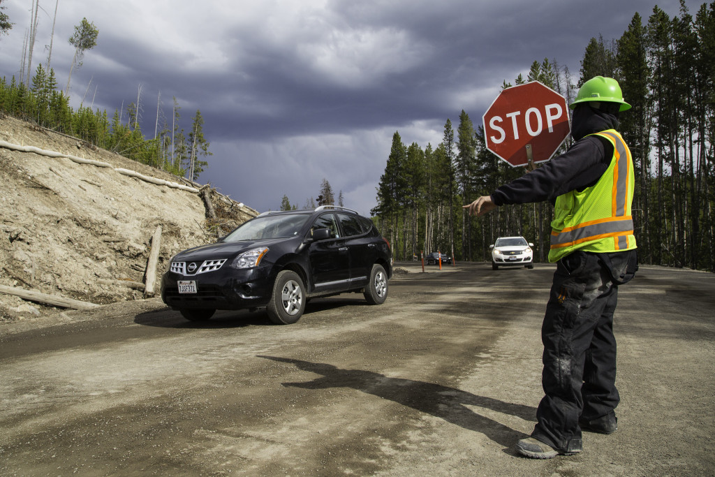Most of the road construction in the park is complete  but some areas can be congested so be sure to follow the instructions of the flaggers as you travel through the park this summer. (YNP photo)