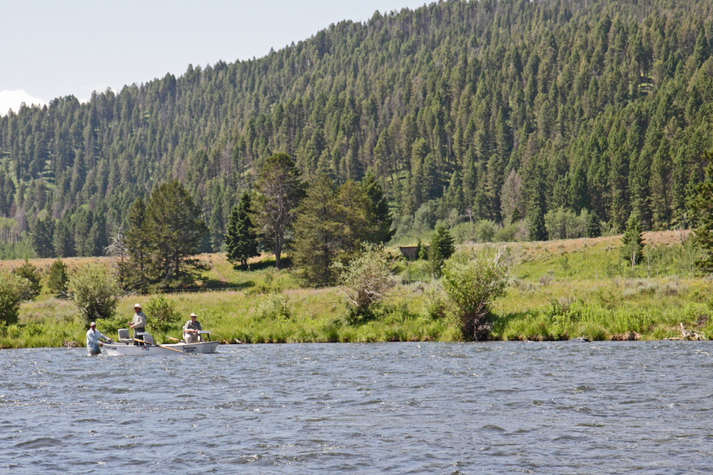 The Madison River's low and mostly uniform depth provides great access for guides and anglers. (Keith Carlson photo)