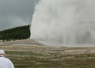Old Faithful in all her raging glory (Cutthroat Press photo).
