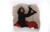 Sara working on the snow cave