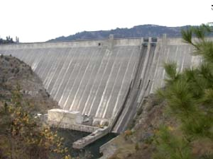 Flows below Dworshak have been reduced due to a malfunctioning turbine.