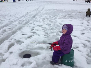 Once you catch the ice fishing bug, you just don't lose. Young anglers are the future of the sport. Hardwater photo.