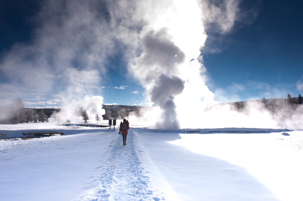 Boiling water and cold air make for some great photo opportunities. NPS photo.