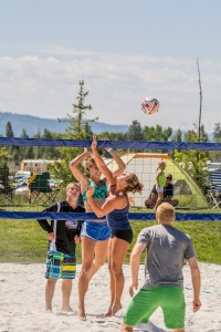 There will also be beach volley ball instruction and competition throughout the weekend. (Sarah McNair-Landry photo)